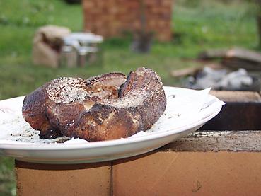 豚バラ肉のスモーク完成