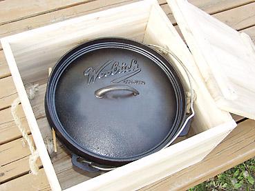 ダッチオーブンの保管方法 2 ~ 木箱にいれて保管